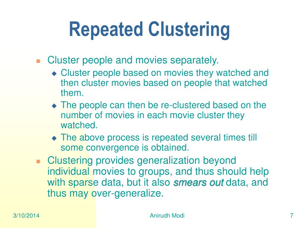 Repeated Clustering