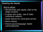 meeting the needs7