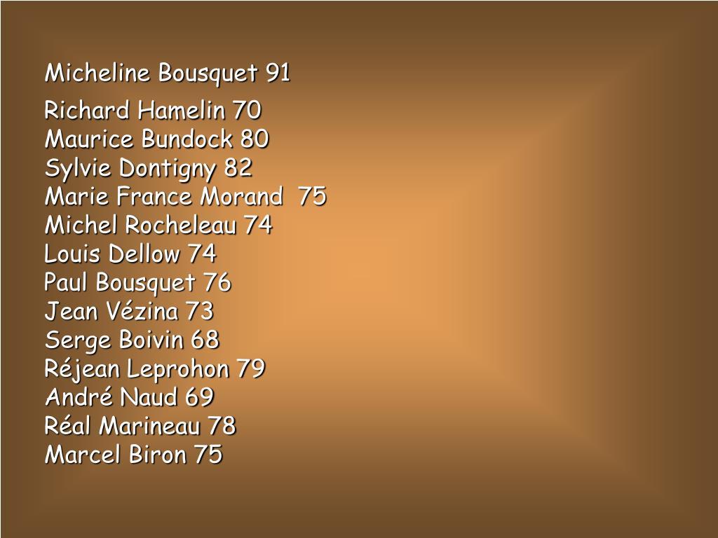 Micheline Bousquet 91