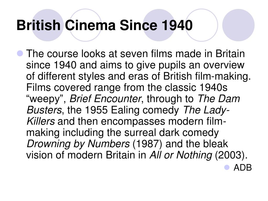 British Cinema Since 1940
