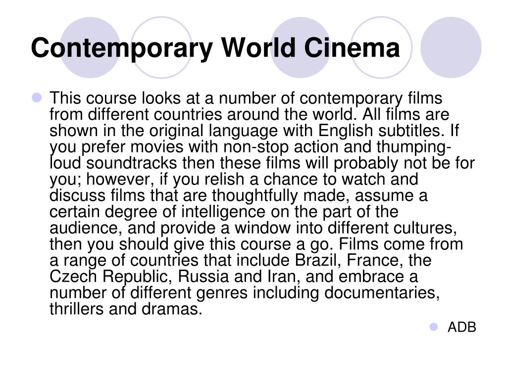 Contemporary World Cinema