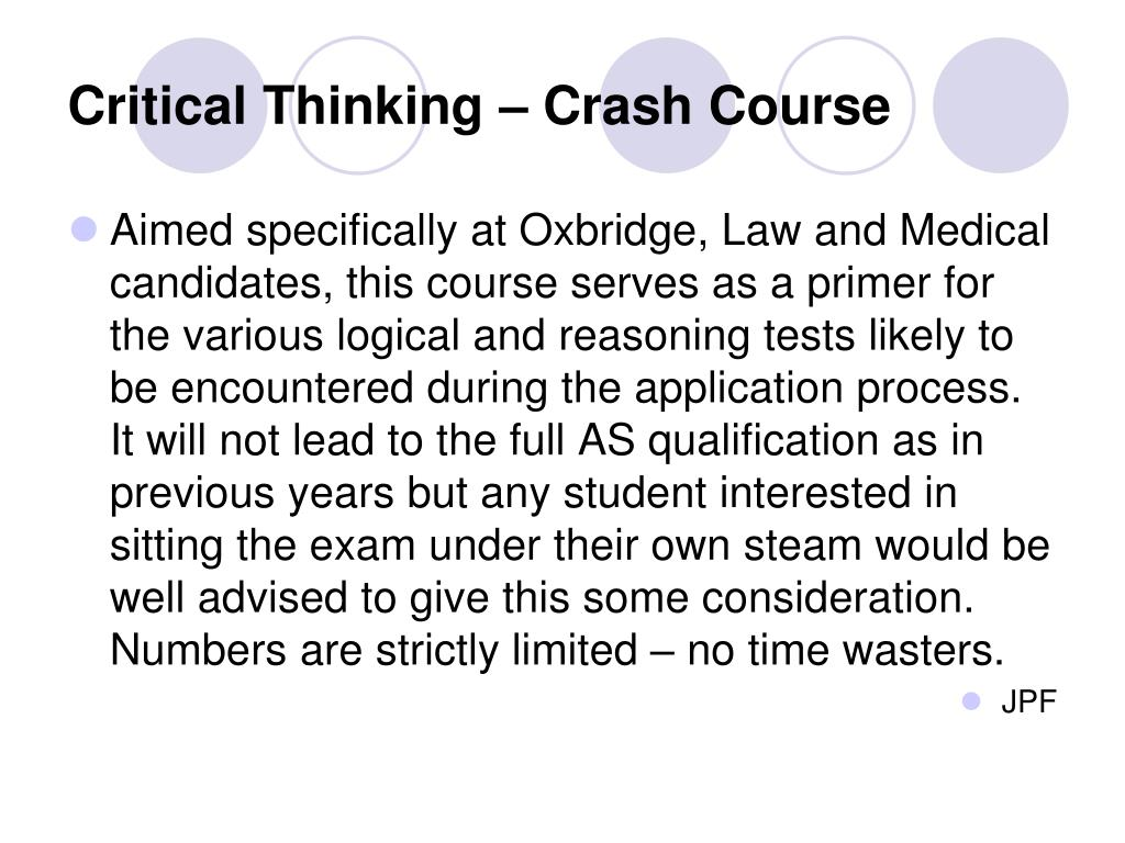 Critical Thinking – Crash Course