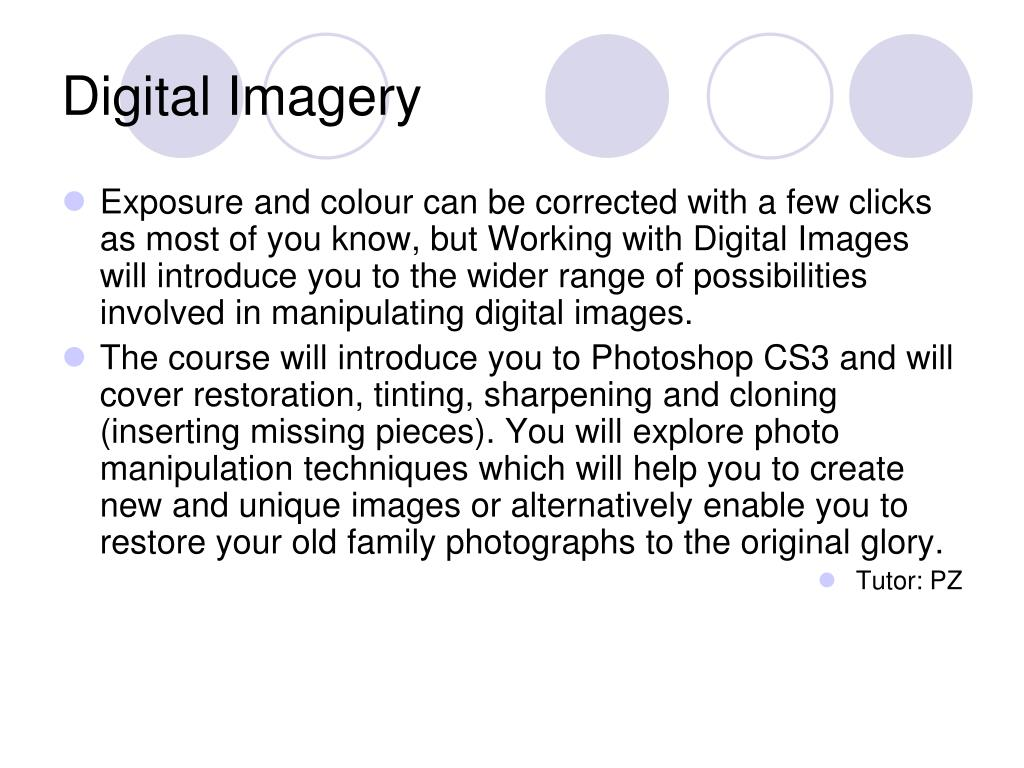 Digital Imagery