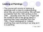 looking at paintings