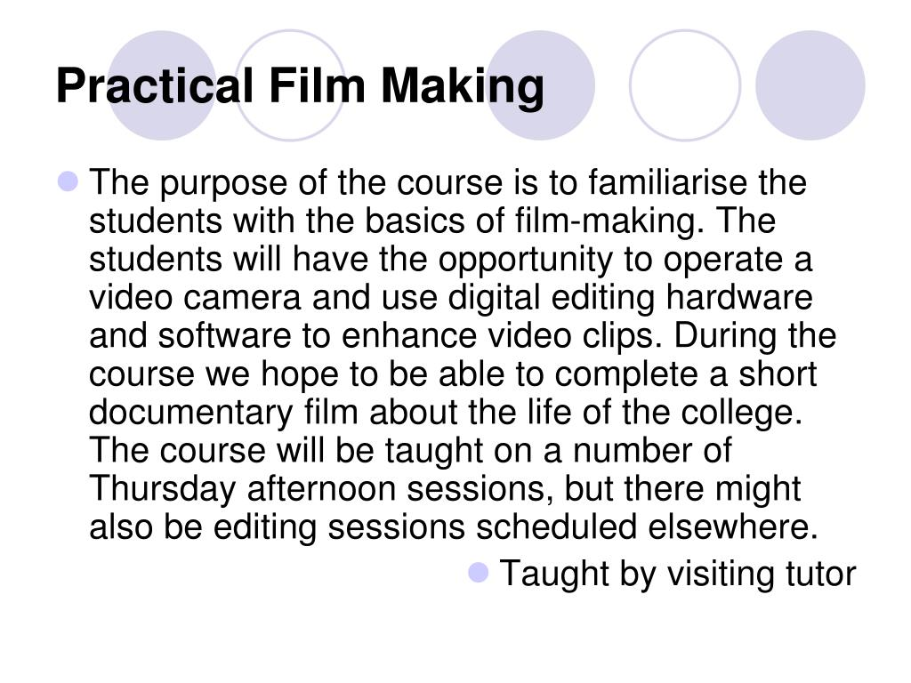 Practical Film Making