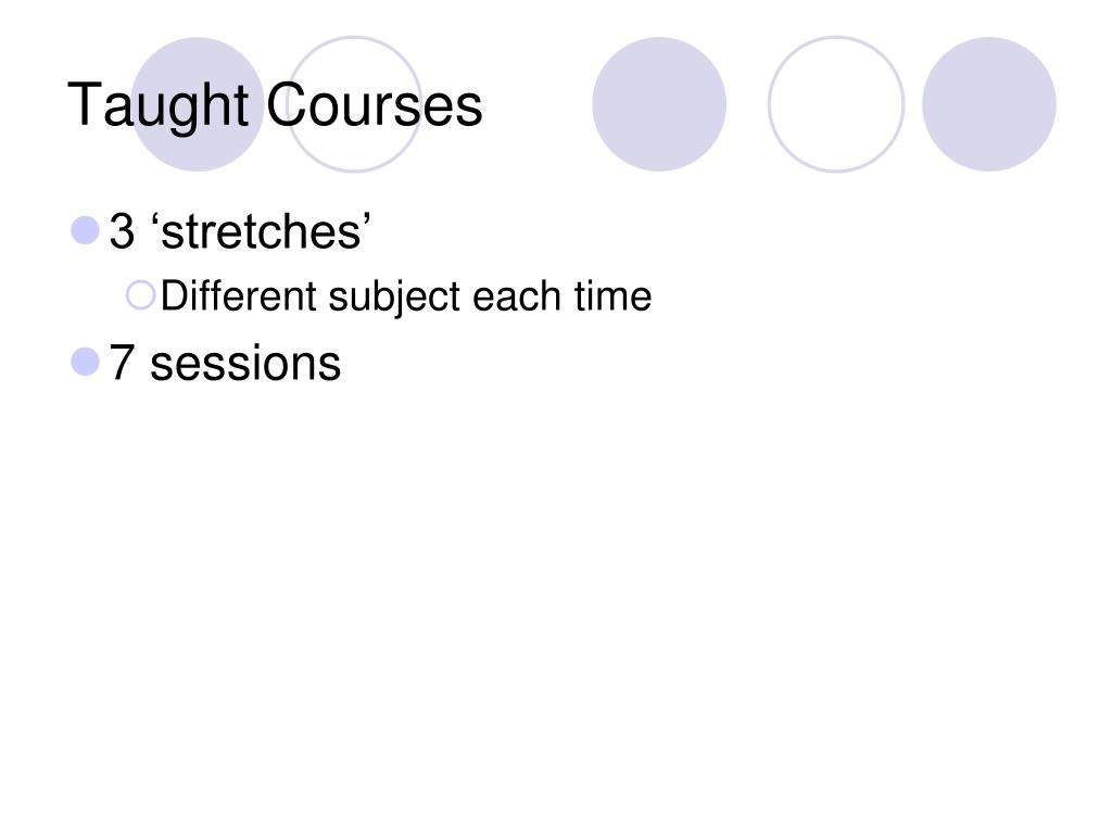 Taught Courses