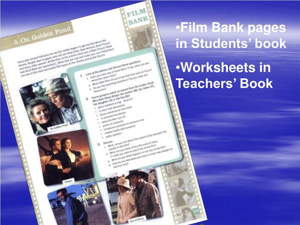 Film Bank pages in Students' book