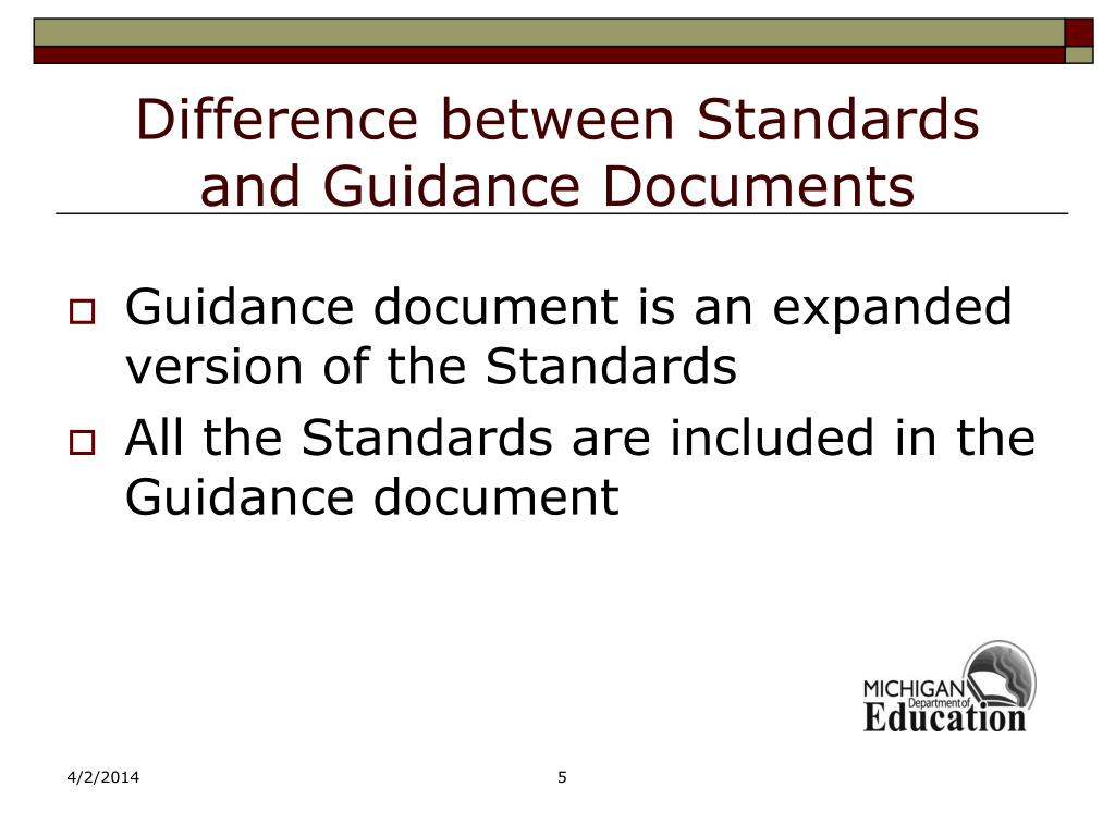 Difference between Standards