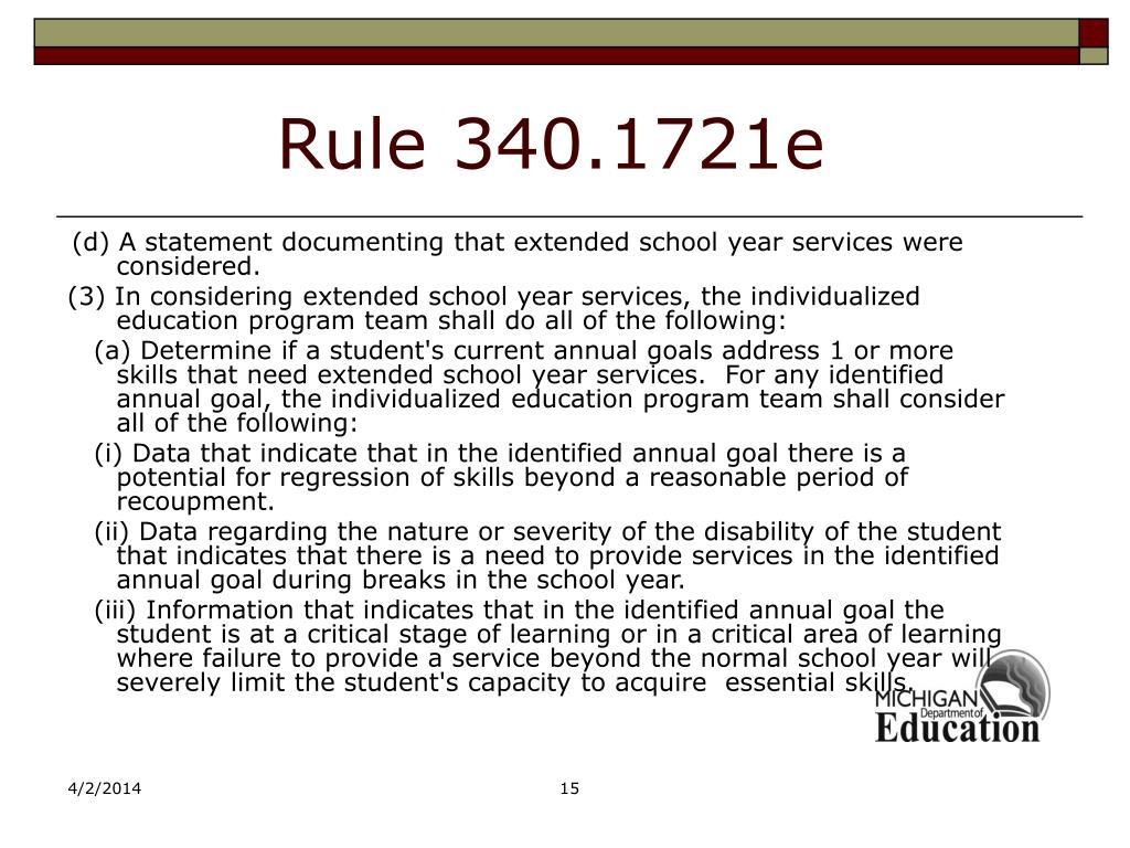 Rule 340.1721e
