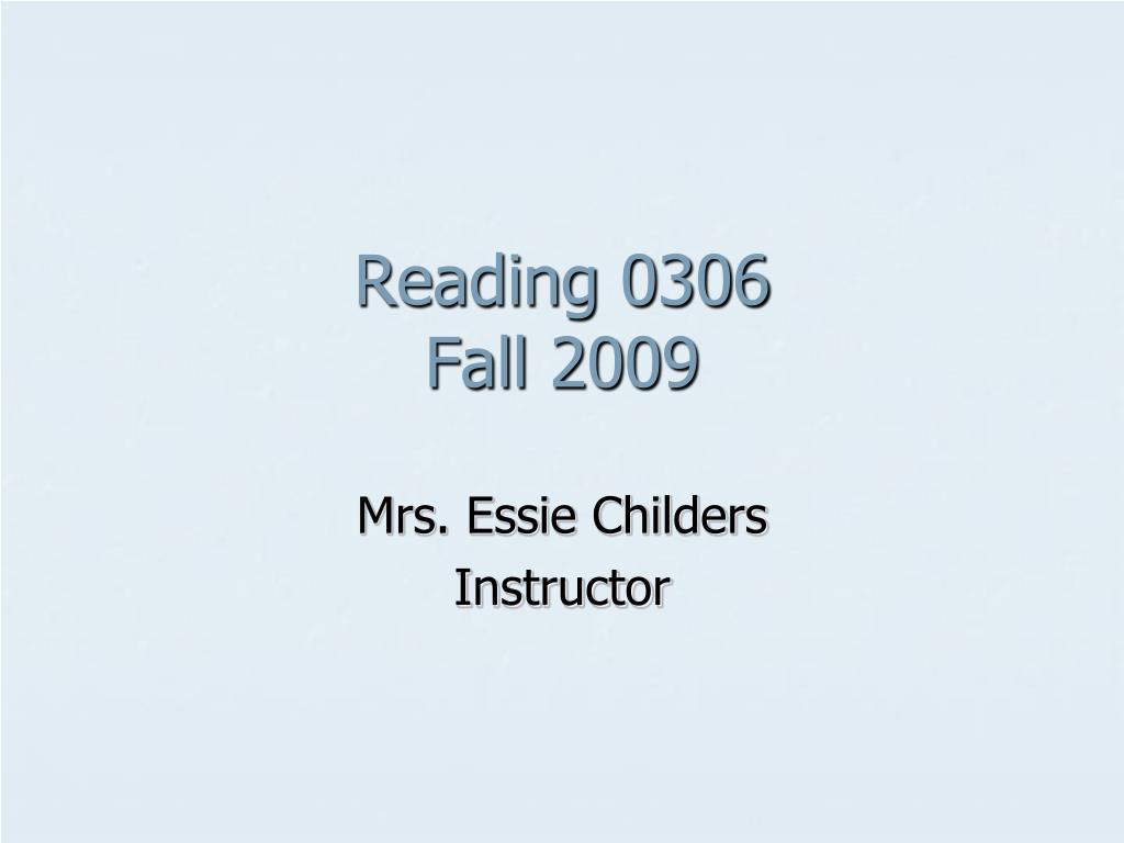 Reading 0306