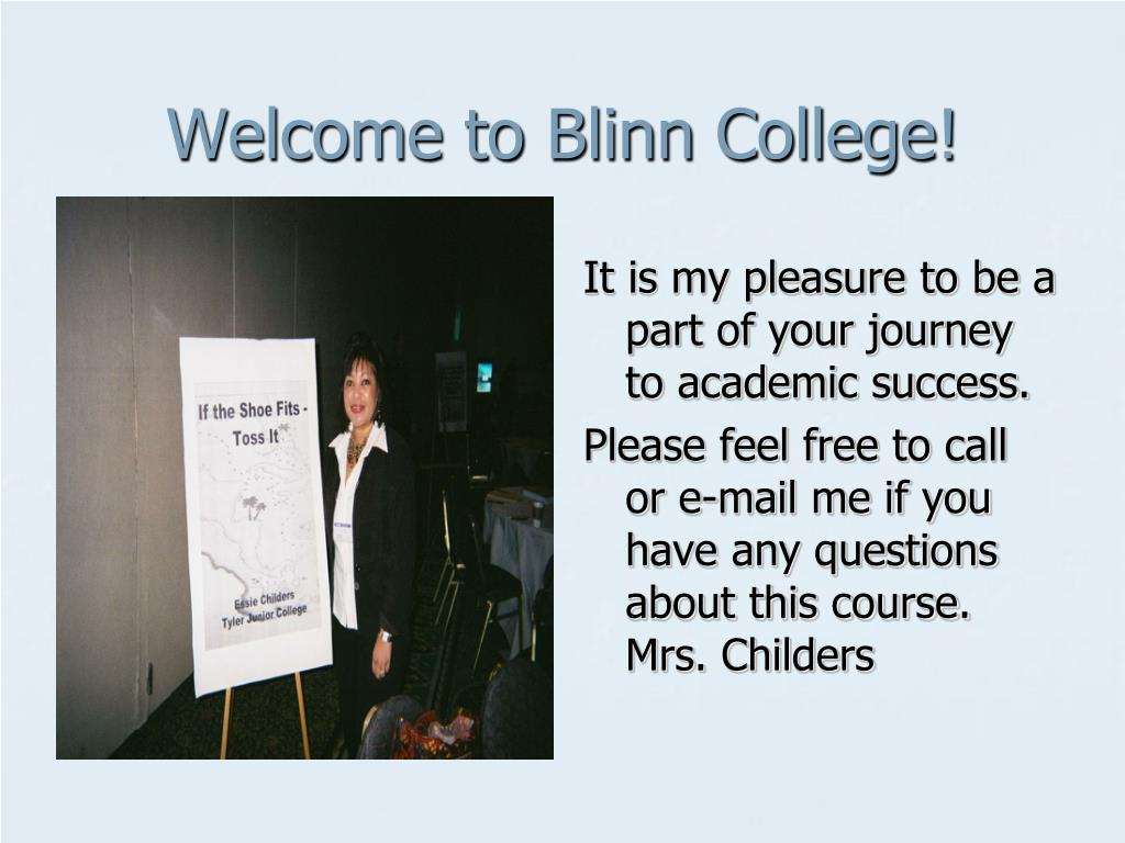 Welcome to Blinn College!