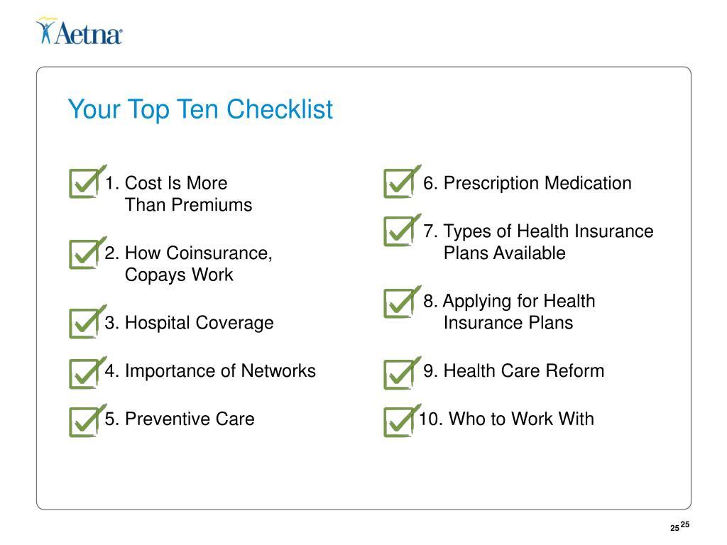 Your Top Ten Checklist
