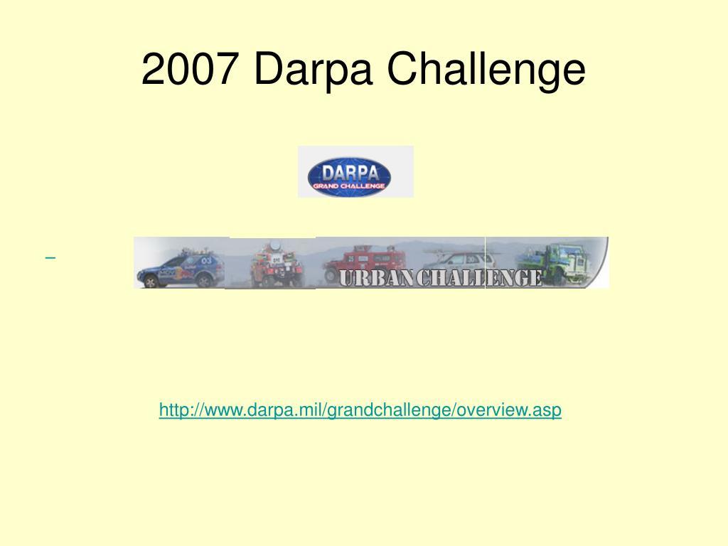 2007 Darpa Challenge