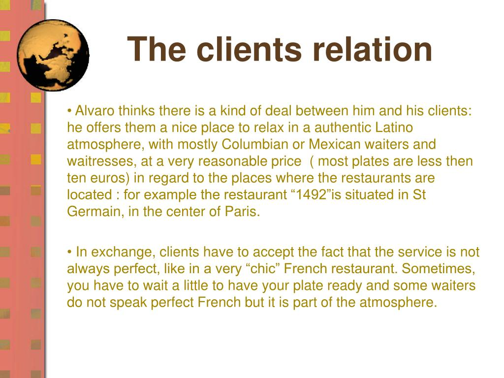 The clients relation