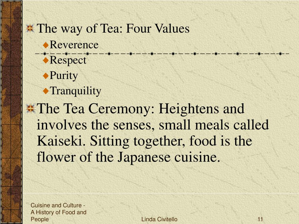 The way of Tea: Four Values