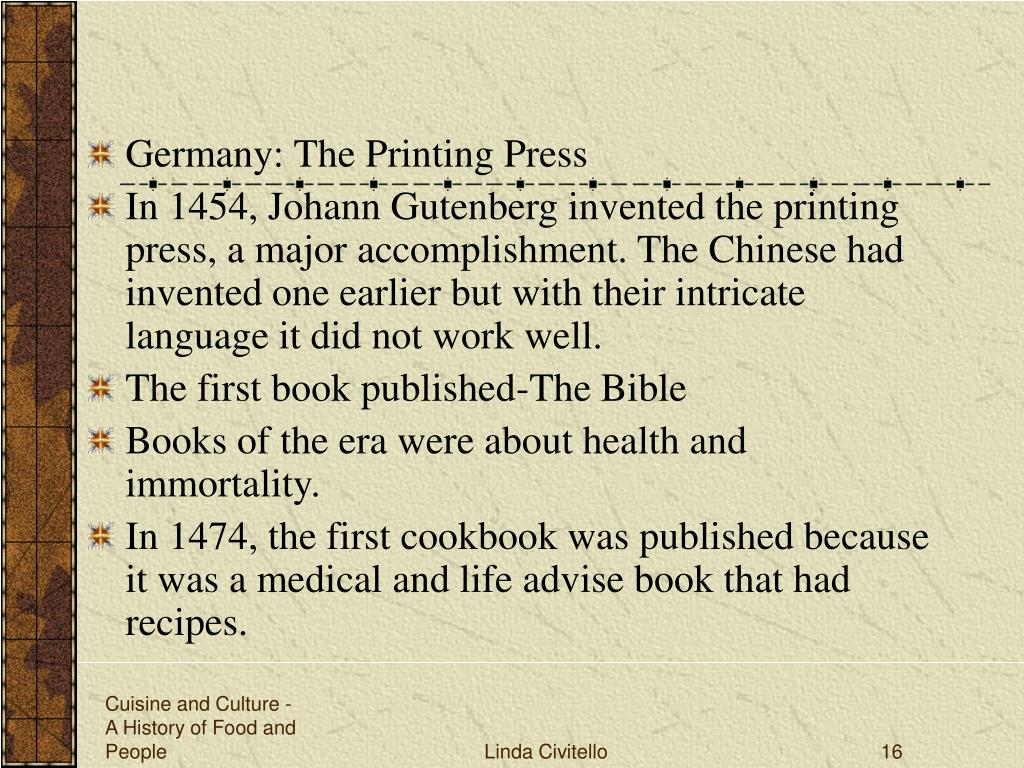 Germany: The Printing Press