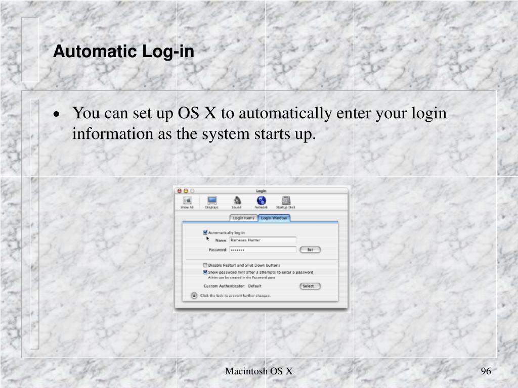 Automatic Log-in