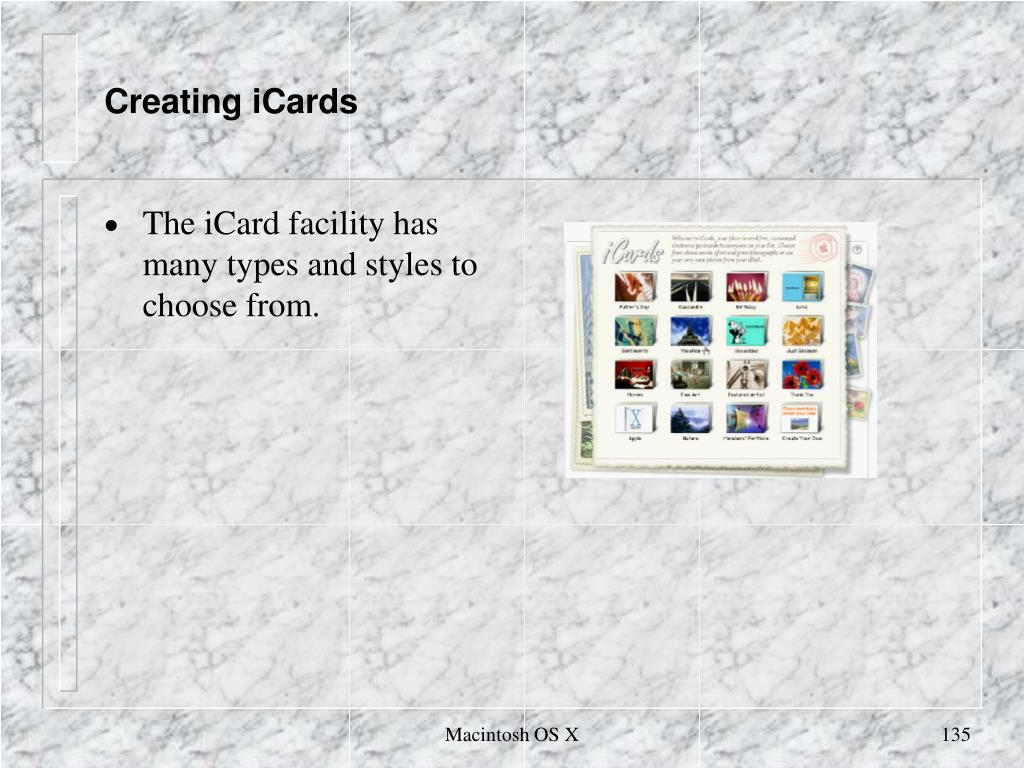 Creating iCards