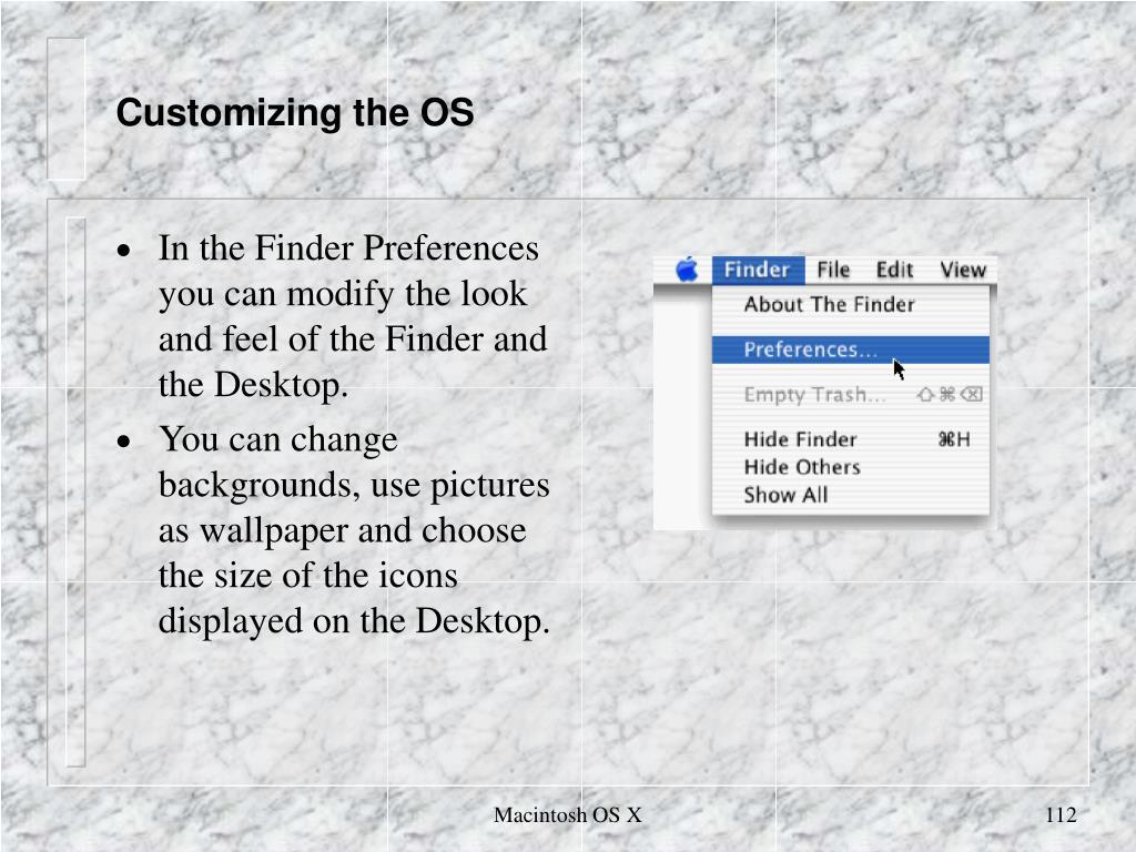 Customizing the OS