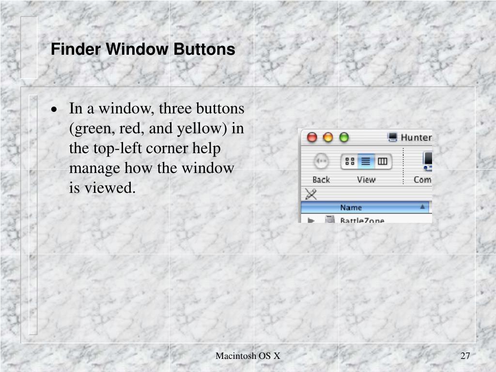 Finder Window Buttons