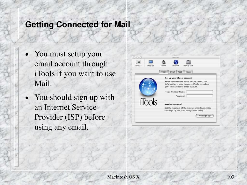 Getting Connected for Mail