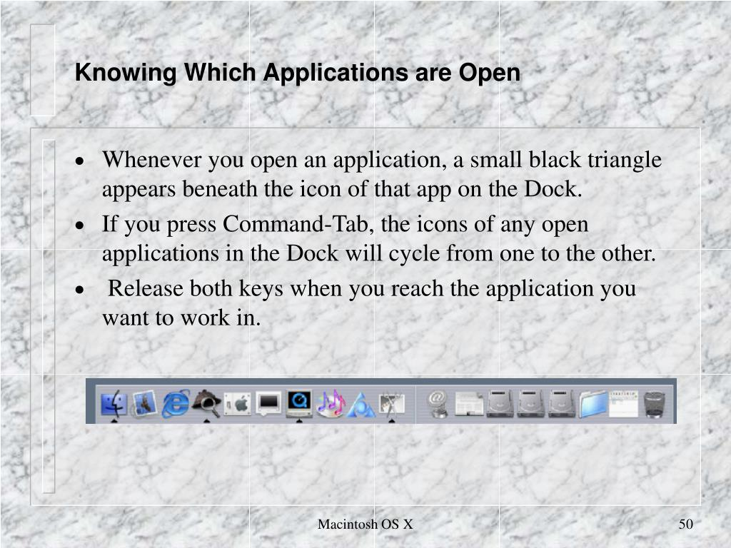 Knowing Which Applications are Open