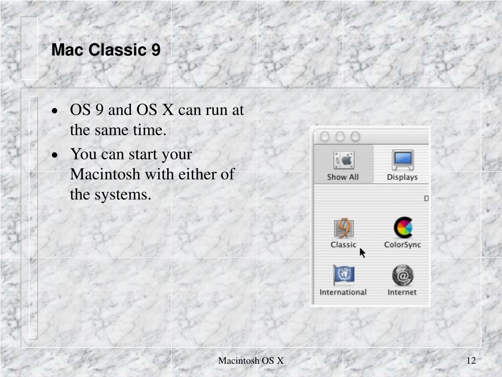 Mac Classic 9