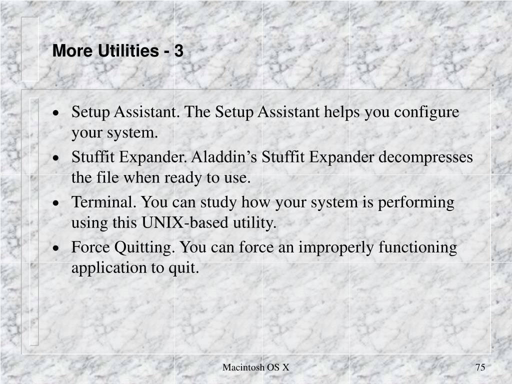 More Utilities - 3