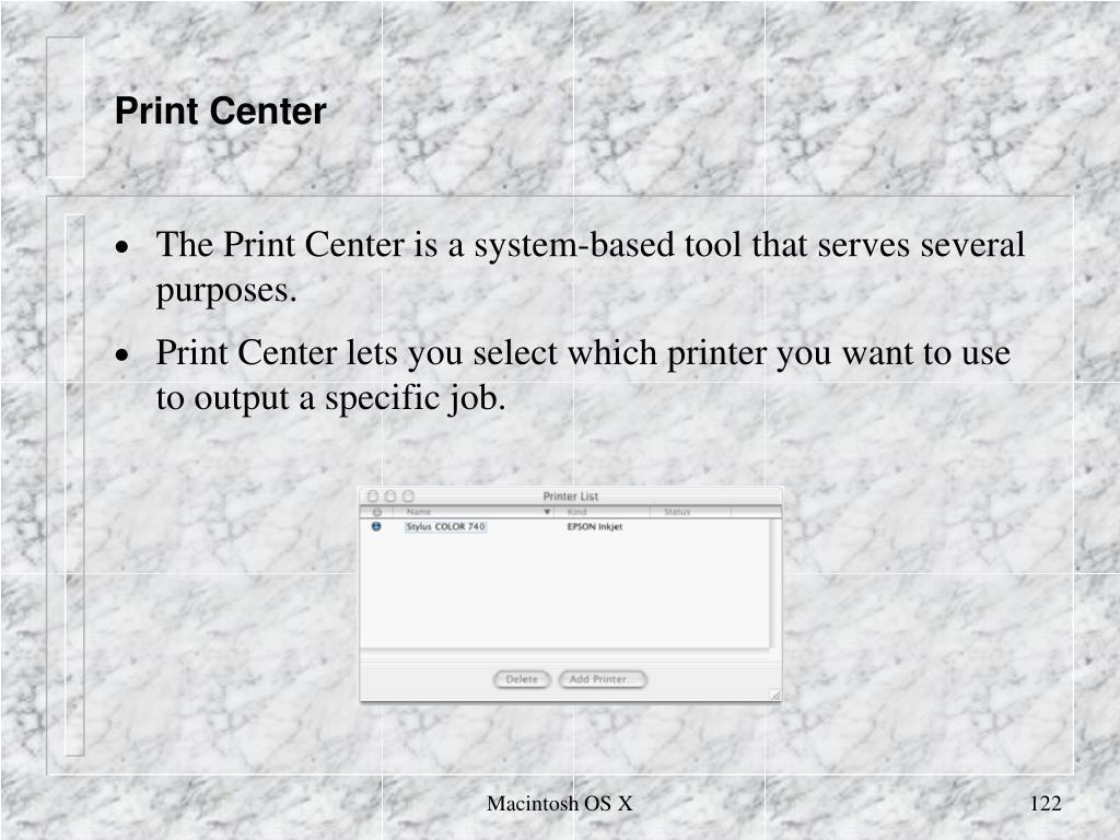 Print Center