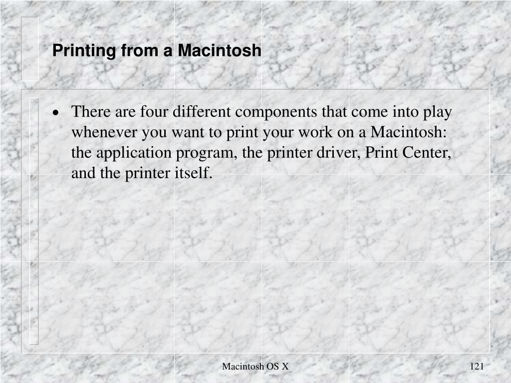 Printing from a Macintosh