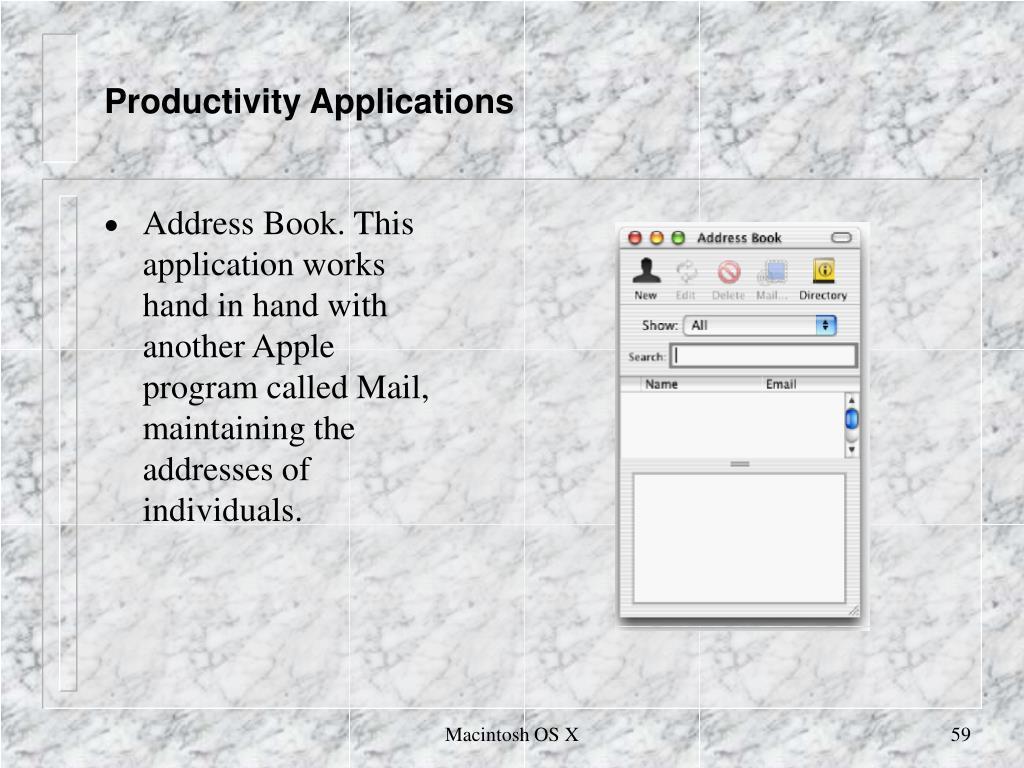 Productivity Applications