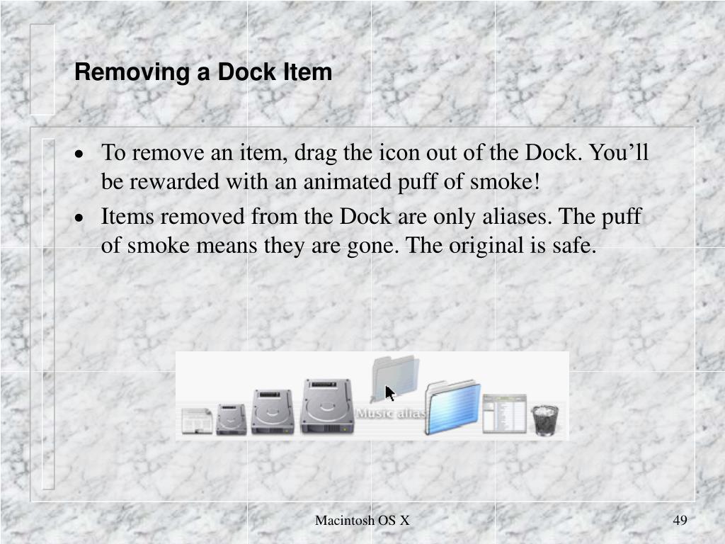 Removing a Dock Item