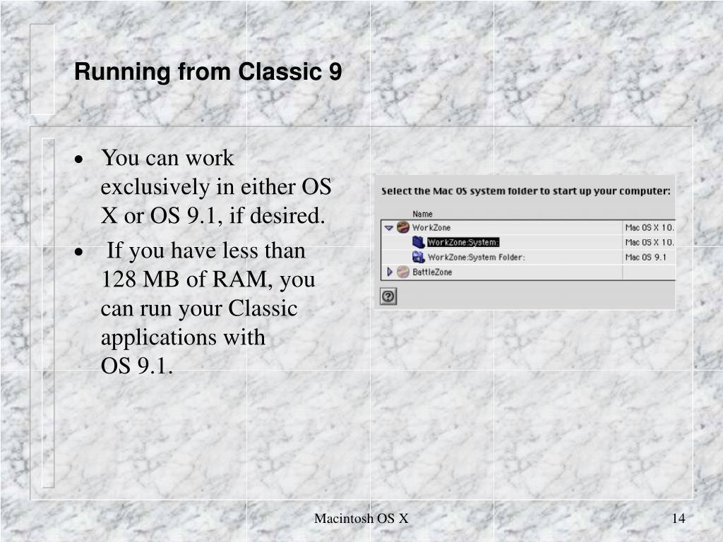 Running from Classic 9
