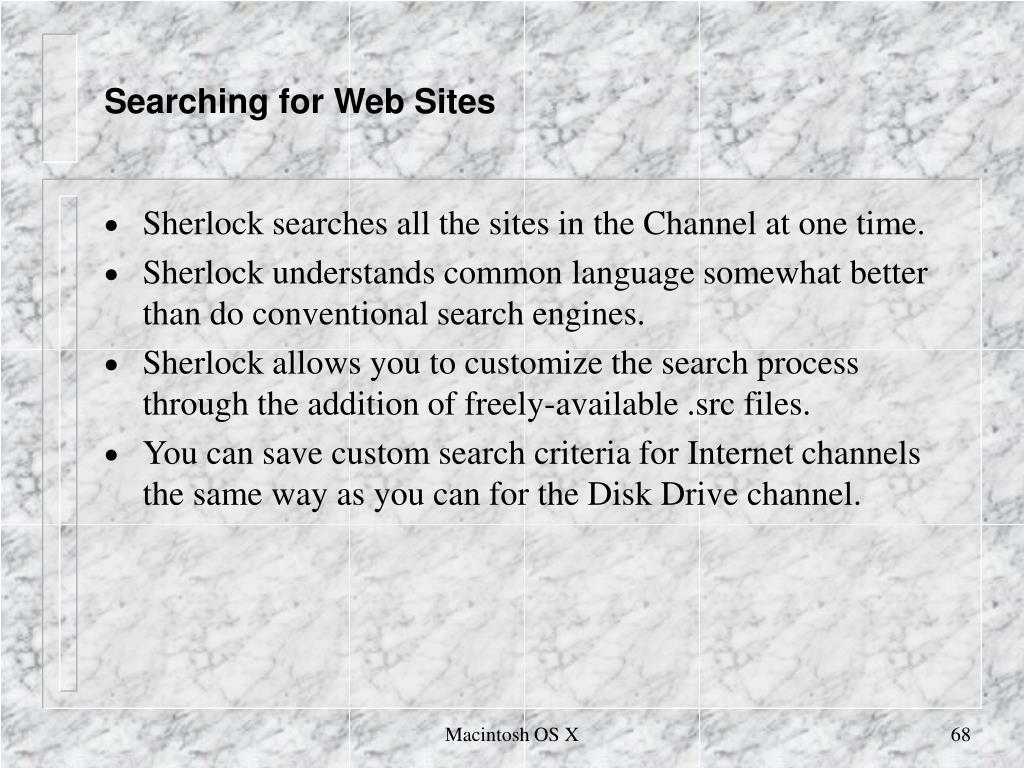 Searching for Web Sites