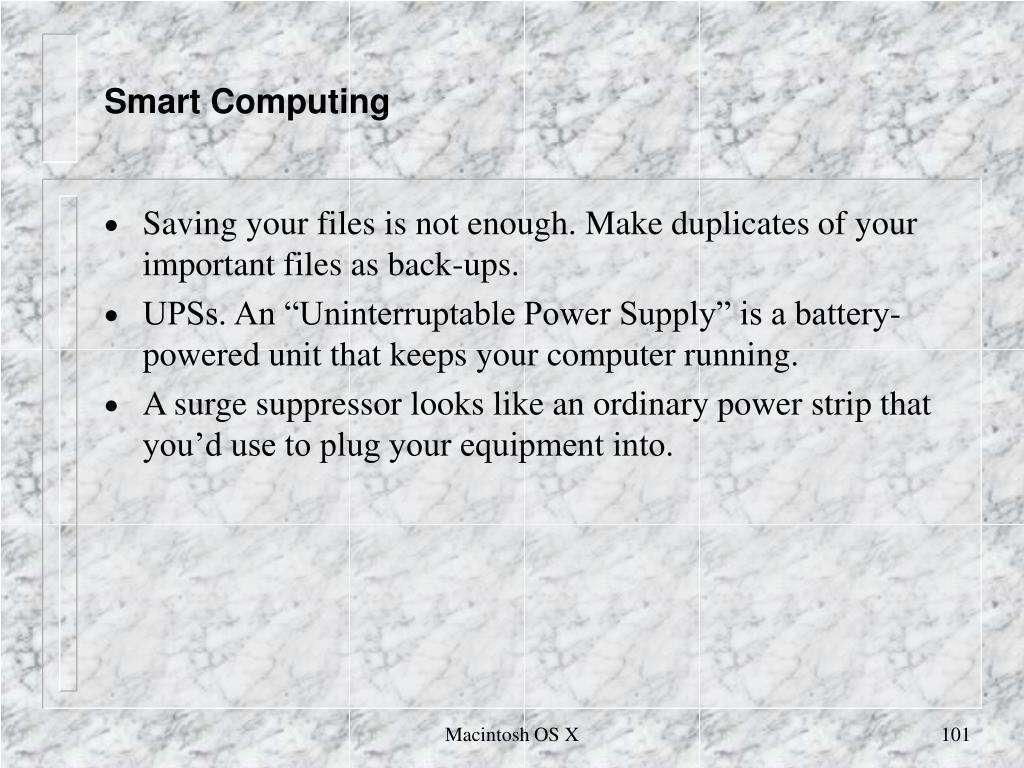 Smart Computing