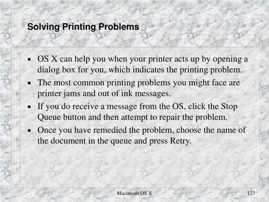 Solving Printing Problems