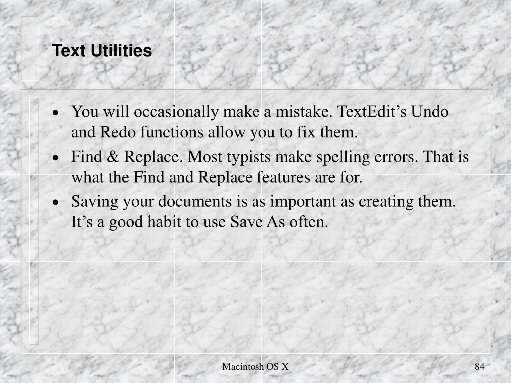 Text Utilities