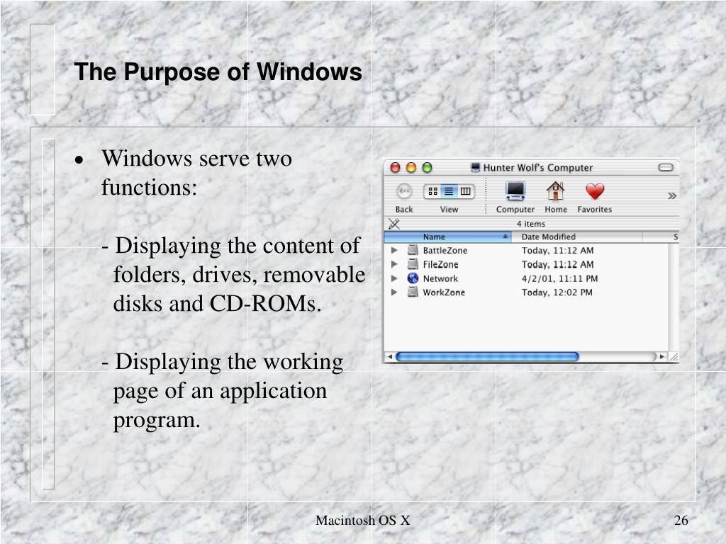 The Purpose of Windows