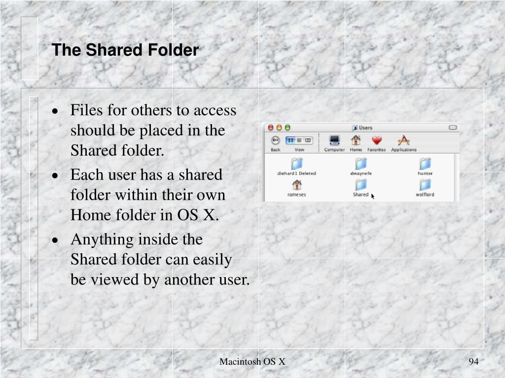 The Shared Folder