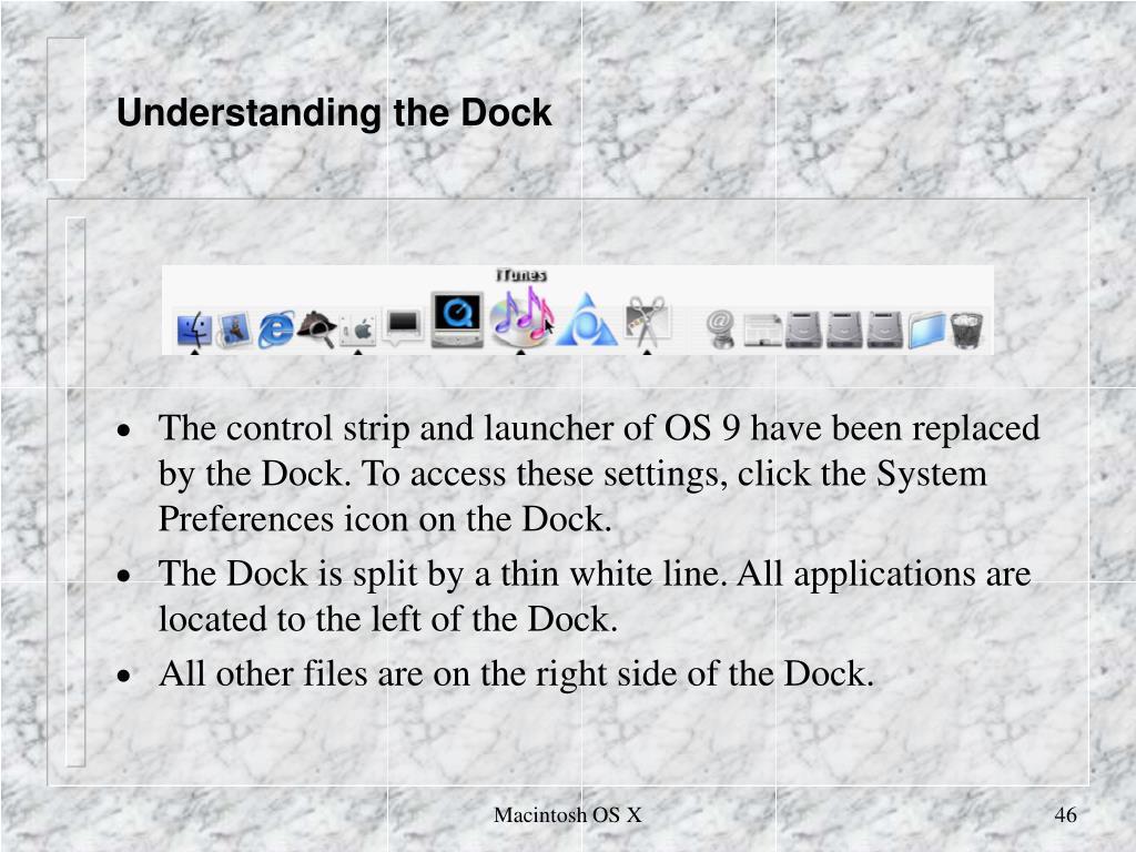 Understanding the Dock