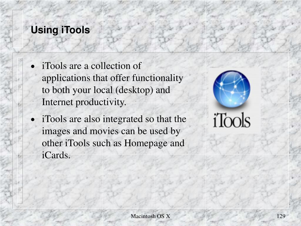 Using iTools