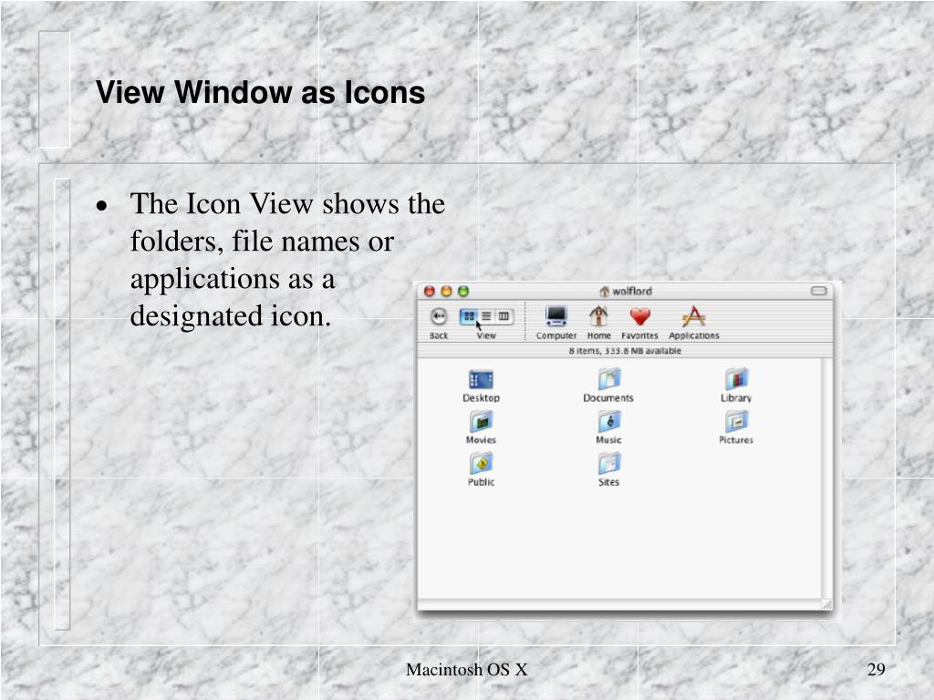 View Window as Icons