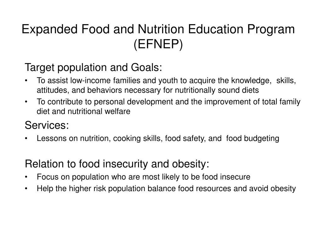 Expanded Food and Nutrition Education Program (EFNEP)