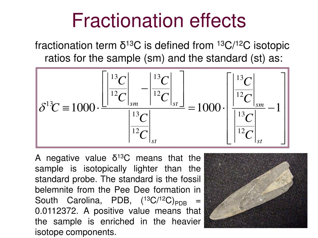 Fractionation effects