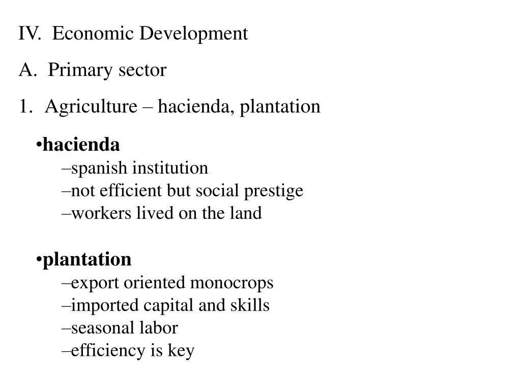 IV.  Economic Development