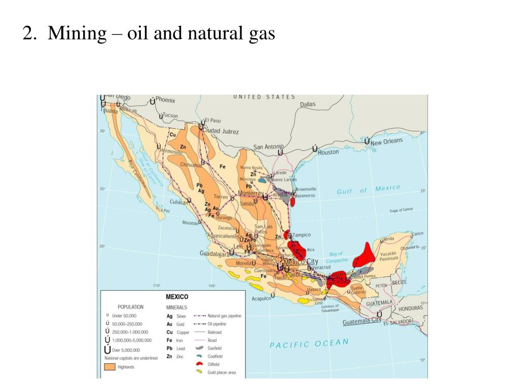 2.  Mining – oil and natural gas