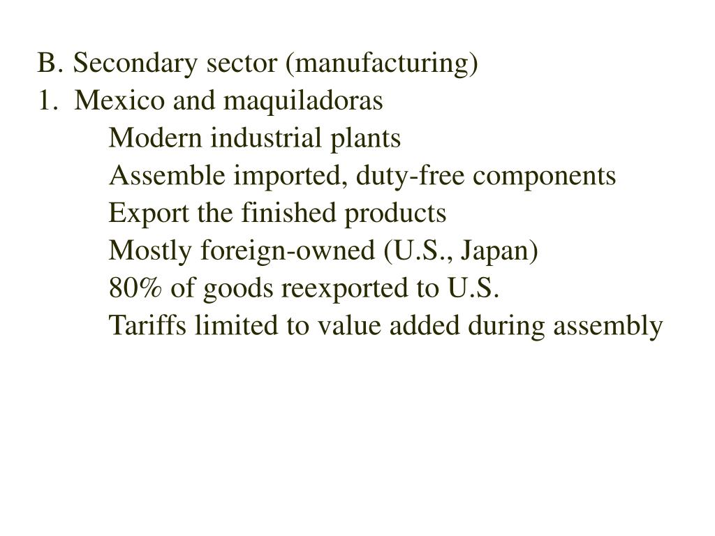 Secondary sector (manufacturing)