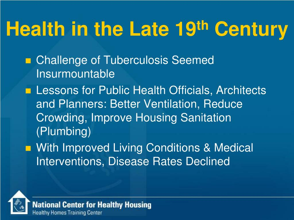 Health in the Late 19