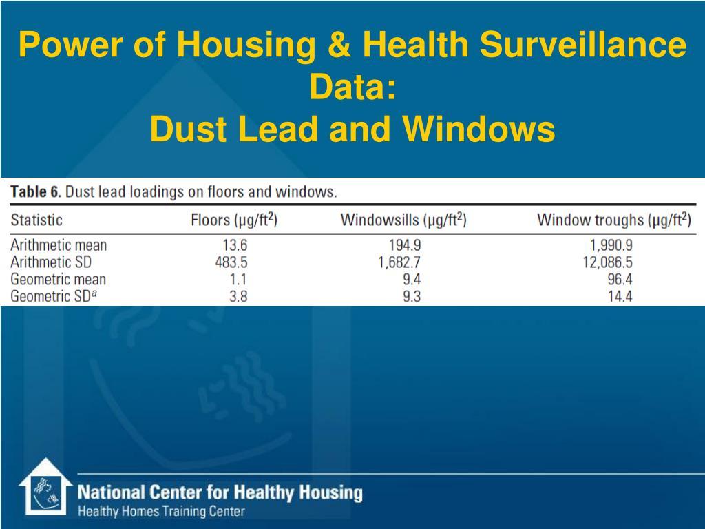 Power of Housing & Health Surveillance Data: