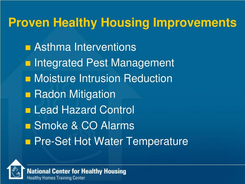 Proven Healthy Housing Improvements